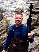 David Mair at Looking Glass Falls near Brevard, North Carolina.