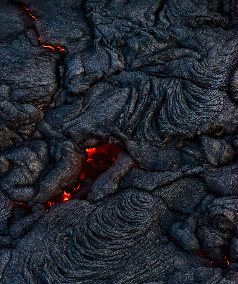 Still molten lava can be seen through the cracks. This is the last in my series of lava shots from Hawaii.